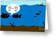 Two Fish Discuss Wave Theory. Greeting Card