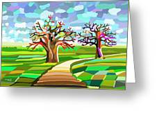 Two Friends Greeting Card