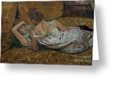 Two Friends Greeting Card by Henri de Toulouse-Lautrec