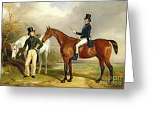 Two Gentlemen Out Hunting  Greeting Card