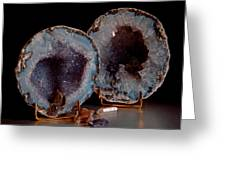 Two Geodes Greeting Card
