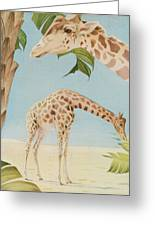 Two Giraffes Greeting Card