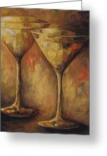 Two Golden Martinis  Greeting Card