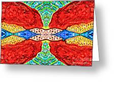 Two Halves  Greeting Card