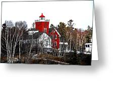 Two Harbors Lighthouse Close-up Greeting Card