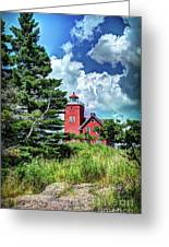 Two Harbors Lighthouse Greeting Card