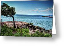 Two Harbors North Pierhead Light Greeting Card