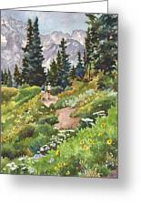 Two Hikers Greeting Card
