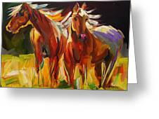 Two Horse Town Greeting Card