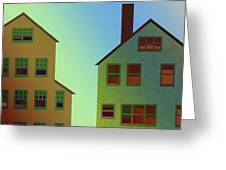 Two Houses Greeting Card