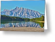Two Jack Lake Greeting Card