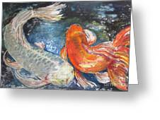 Two Koi Greeting Card