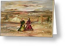 Two Ladies In Waiting Greeting Card