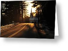 Two Lane To Heaven Greeting Card
