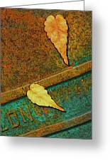 Two Leaves Or Not Two Leaves Greeting Card