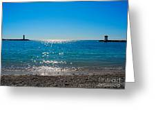 Two Lighthouse And The Wonderful Beach Greeting Card