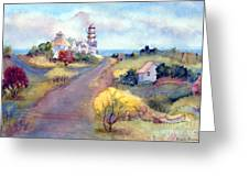 Two Lights In Cape Elizabeth Maine Greeting Card