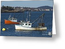 Two Lobster Boats Greeting Card