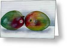 Two Mangoes Greeting Card