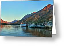 Two Medicine Boat Dock Greeting Card