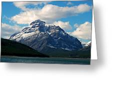 Two Medicine Lake And Rising Wolf Mountain Greeting Card