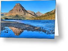 Two Medicine Lake Sunrise Panorama Greeting Card