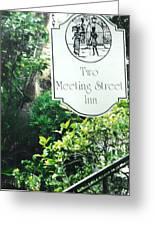 Two Meeting Street Greeting Card