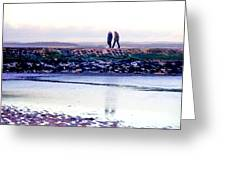 Two Men Went For A Walk Greeting Card