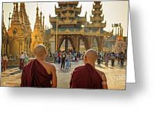 Two Monks Greeting Card