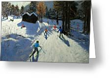 Two Mountain Huts Greeting Card