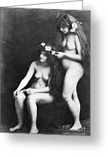 Two Nudes, 1913 Greeting Card