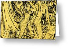 Two Nudes At The Window Greeting Card