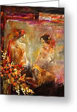 Two Nudes  Greeting Card