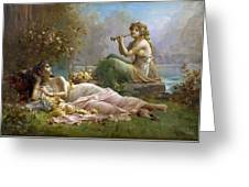 Two Nymphs By The Water Hans Zatzka Greeting Card