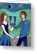 Two Of Cups Illustrated Greeting Card
