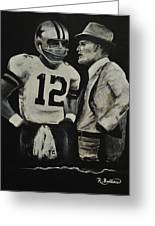 Two Of The Greastest Minds In Pro-football Greeting Card by Robert Ballance