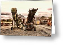 Two Old Conveyor Belts Greeting Card