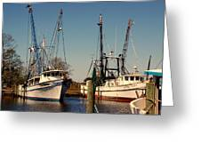 Two Old Shrimpboats Greeting Card