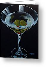 Two Olive Martini Greeting Card