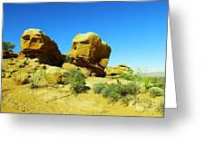 Two Orange Rocks Greeting Card