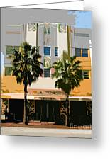 Two Palms Art Deco Building Greeting Card