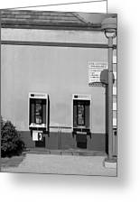 Two Pay Phones Greeting Card