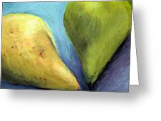 Two Pears Still Life Greeting Card
