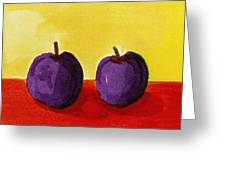Two Plums Greeting Card