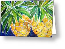 Two Purple Pineapples Greeting Card