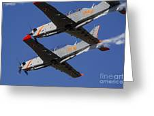 Two Pzl-130 Orlik Trainers Greeting Card