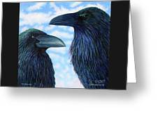Two Ravens Greeting Card