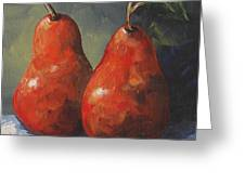Two Red Pears II  Greeting Card
