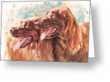 Two Redheads Greeting Card