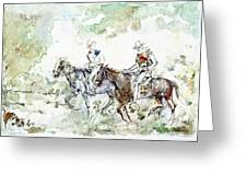 Two Riders Greeting Card